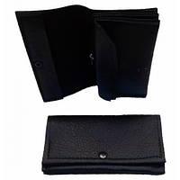 Дешевые кожаные кошельки 15*8 (черный)