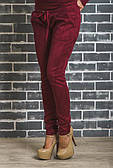 Стильні жіночі замшеві штани