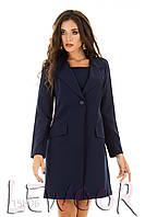 Костюмный ансамбль из пиджака с платьем Синий, Размер 46 (L)