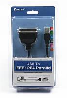 Кабель Viewcon VEN 11 USB1.1-LPT, 1.2м, блистер