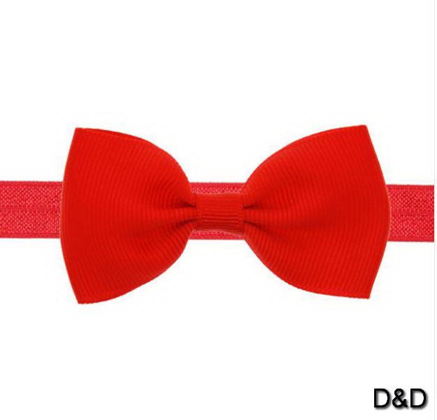 Повязка на голову для девочки, бантик красный