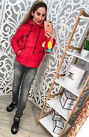 Женская осенне - весенняя куртка - плащевка, синтепон. Код 612.