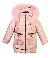Зимняя куртка парка   для девочки Птичка  86-116рост
