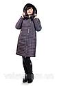 Новинка! Стеганный зимний плащ 50 р баклажан; 58 р темно синие, фото 4