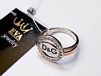 Серебряное кольцо с золотом Дольче, фото 1