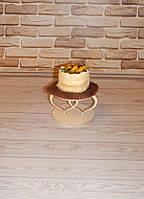 СЕРДЦЕ №1 подставка (с двумя сердечками) для капкейков (кексов) заготовка для декора