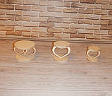 СЕРЦЕ №1 підставка (з двома сердечками) для капкейків (кексів) заготівля для декору, фото 3