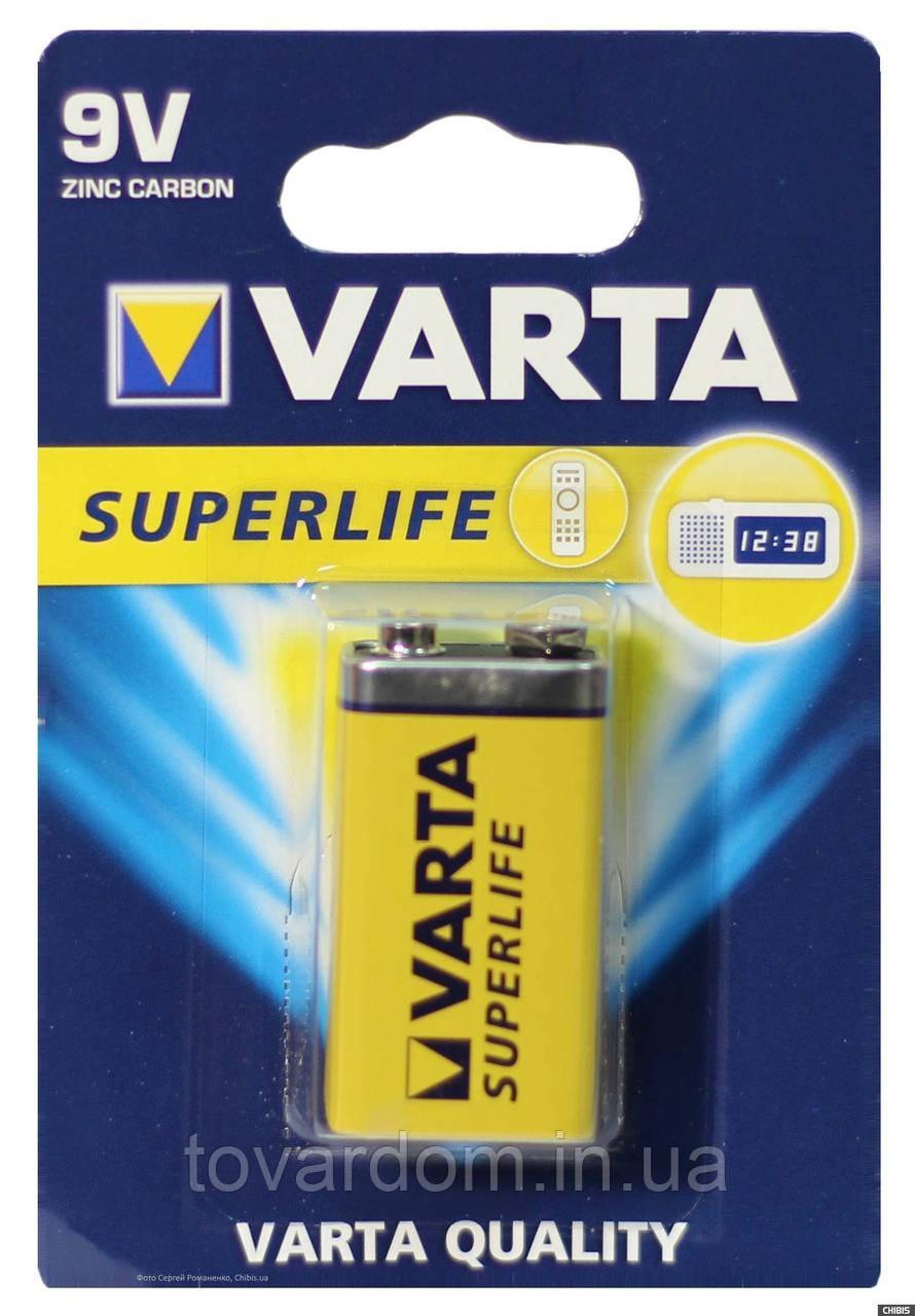 Батарейка, крона VARTA SUPERLIFE 6F22