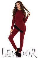 Модный костюм туника с сеткой и брюки