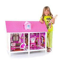 Кукольный домик детский с мебелью 2 комнаты+кукла Барби 66882