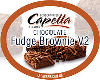 Ароматизатор Capella Chocolate Fudge Brownie V2 (Шоколадный фудж)