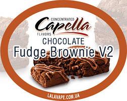 Ароматизатор Capella Chocolate Fudge Brownie V2 (Шоколадный фудж)
