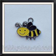 Подвеска с эмалью Пчелка 1,8*2,2 см