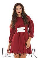 Платье из крепа с переплётами