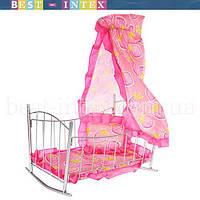 Кроватка с балдахином для кукол 9349
