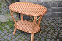Плетеный стол из лозы ручной работы