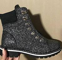 """Ботинки в черном цвете на шнуровке 1403  """"Anna"""""""
