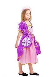 Детский карнавальный костюм принцесса София (4 - 9 лет) Костюмы принцесс Диснея