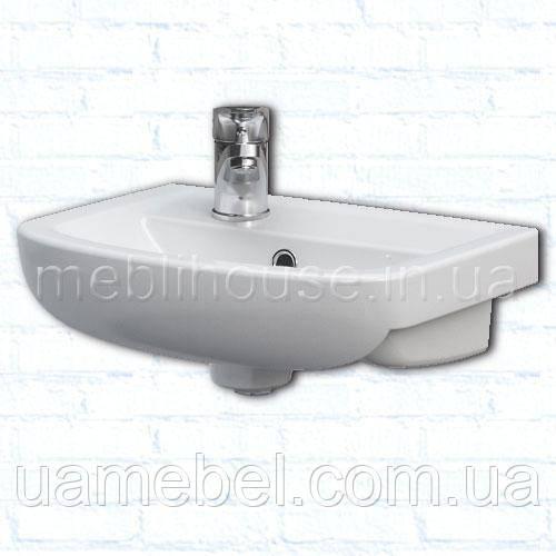 Умывальник в ванную комнату с тумбой угловой Arteco Левая 40 см