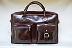 Кожаная сумка VS75  vintage 40х26х10 см, фото 2
