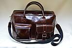 Кожаная сумка VS75  vintage 40х26х10 см, фото 3