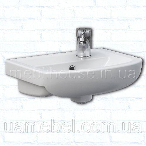 Умывальник в ванную комнату с тумбой угловой Arteco-Правая 40 см
