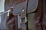 Кожаная сумка VS75  vintage 40х26х10 см, фото 6