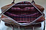 Кожаная сумка VS75  vintage 40х26х10 см, фото 7