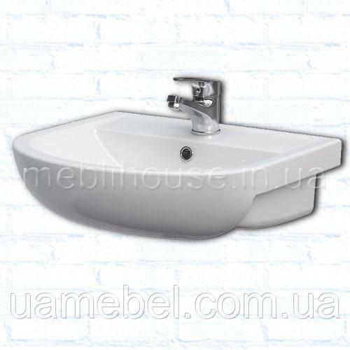Умывальник в ванную с тумбой угловой Arteco 50 см