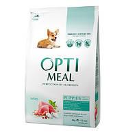 Optimeal Puppies With Turkey 12 кг - корм для щенков всех пород с индейкой