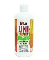 Nila Uni -Cleaner (жидкость для снятия гель-лака,акрила,очищения кистей) лайм 500мл.