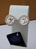 Серьги серебро с золотом Луи Витон, фото 1