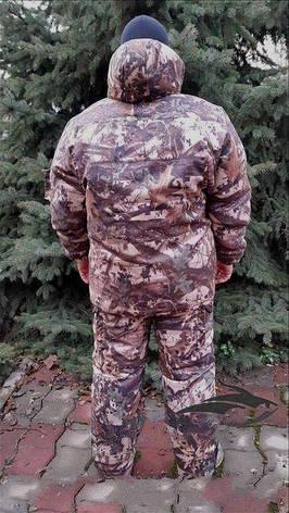 Зимний костюм для рыбалки и охоты Клен Цифра,толстый слой синтипона, водонепроницаемая мембрана алова, -30с, фото 2