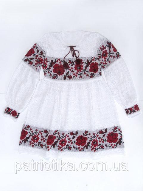 Платье для девочки Роза красная х/б | Плаття для дівчинки Троянда червона х/б