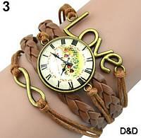 Часы женские, стильные, коричневые 02