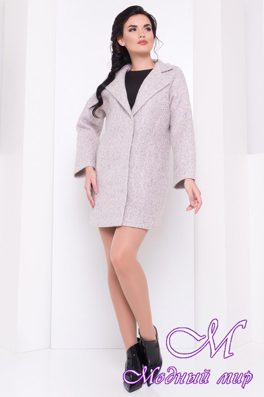 Женское стильное осеннее пальто (р. S, M, L) арт. Кларенс крупное букле - 9798