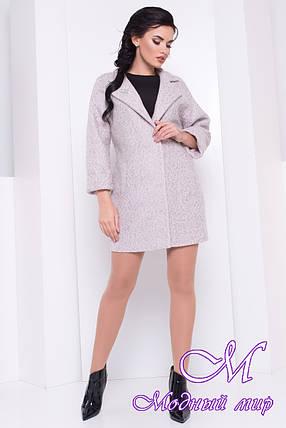 Женское стильное осеннее пальто (р. S, M, L) арт. Кларенс крупное букле - 9798, фото 2