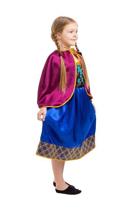 b895ef8b61281f0 Детский карнавальный костюм Анна Холодное сердце (4 - 9 лет) Костюмы  принцесс Диснея