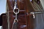 Кожаная сумка VS75  vintage 40х26х10 см, фото 5