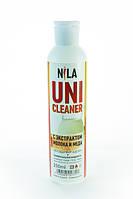 Nila Uni -Cleaner (жидкость для снятия гель-лака,акрила,очищения кистей) молоко и мёд 250мл.