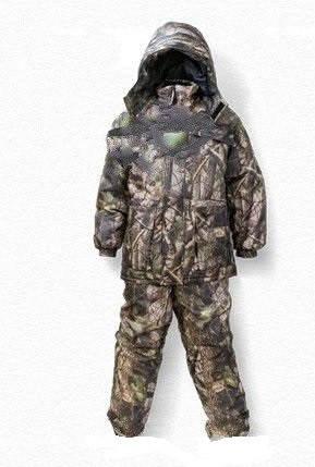 Зимний костюм для рыбалки и охоты Лес 3D ,толстый слой синтипона, водонепроницаемая мембрана алова, -30с , фото 2