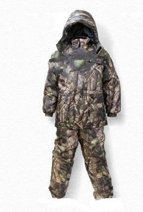 Зимний костюм для рыбалки и охоты Лес 3D ,толстый слой синтипона, водонепроницаемая мембрана алова, -30с