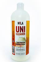 Nila Uni -Cleaner (жидкость для снятия гель-лака,акрила,очищения кистей) молоко и мёд 1000мл.