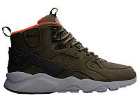 Мужские кроссовки Nike Air Huarache High Dark Green