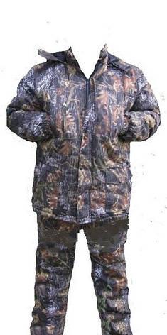 Зимний костюм для рыбалки и охоты Лес,толстый слой синтипона, водонепроницаемая мембрана алова, -30с , фото 2