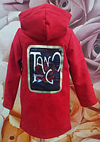Пальто  кашемировое на девочку красное  р.128-152 мята