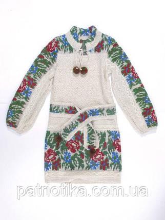 Платье для девочки Маки и васильки малые с кокеткой | Плаття для дівчинки Маки і волошки малі з кокеткою, фото 2