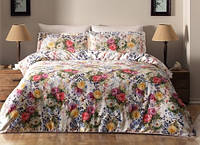 Набор постельного  белья TAC  семейный   Didgital Satin Sense V 01 Lila
