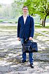 Кожаная сумка VS75  grater 40х26х10 см, фото 6