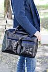 Кожаная сумка VS75  grater 40х26х10 см, фото 7